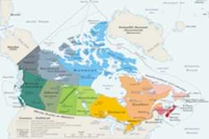 Map of Provinces and Territories of Canada for PNP