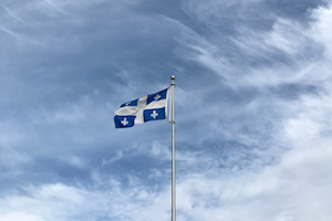 Quebec flag to study in Canada