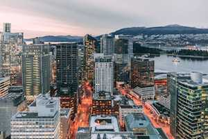 Aerial view of Vancouver, Canada, where there are free things to do