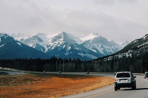 View of Mountains in Canada for tourists