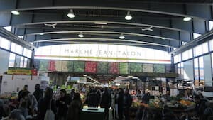 View of the Jean Talon Market in Montréal, Quebec, Canada