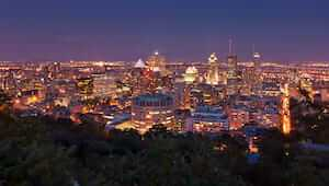 Aerial view of Montréal from Mont Royal, Quebec, Canada