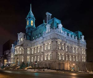 View of Montréal's city hall, guided tours, Quebec, Canada