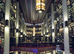 View of the Thomas Fisher Rare Book Library in Toronto, Ontario, Canada